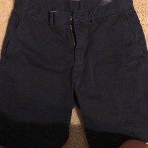 Men's navy polo shorts